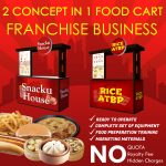 2-in-1 Food Carts: Snacku House and Rice Atbp