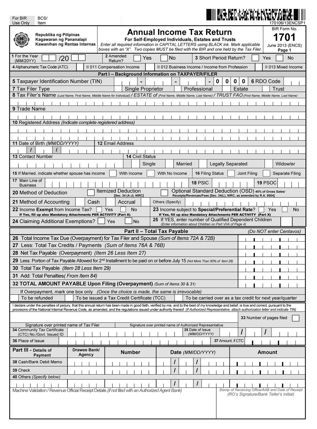 Bir form 2307