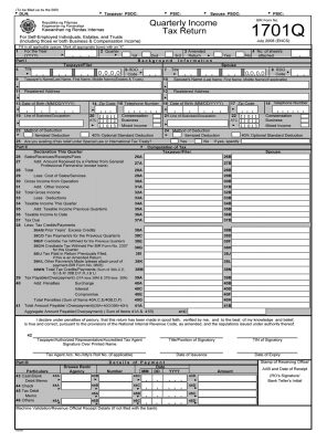 BIR Form 1701Q - Quarterly Income Tax Return